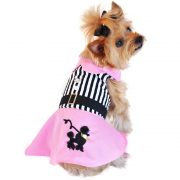 Doggie Design Pink Poodle Harness Dress